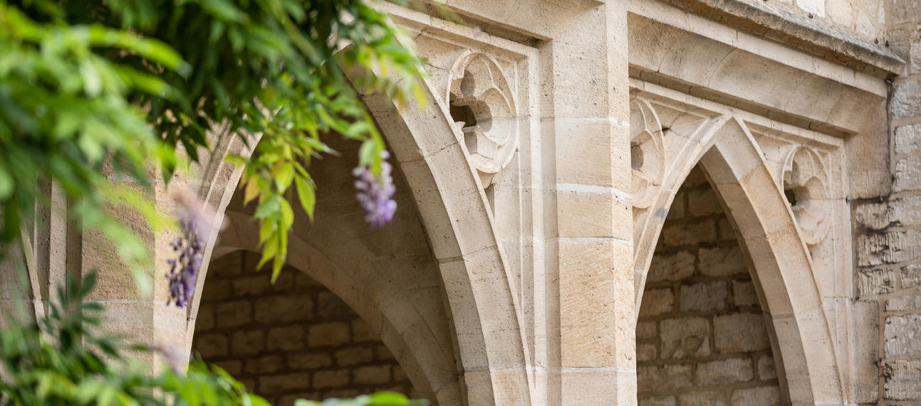 Four Colleges Arch with Wisteria