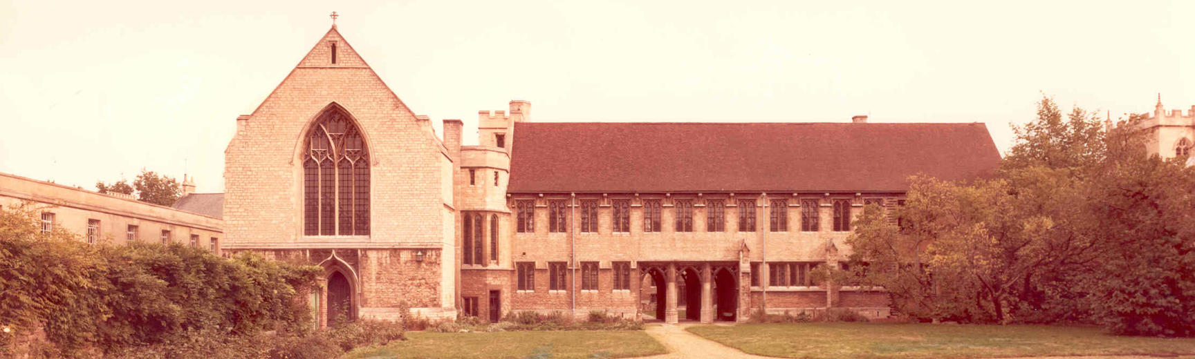 The West Quad of the College before the South Wing was built