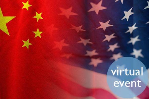 Chinese flag blending into USA Flag