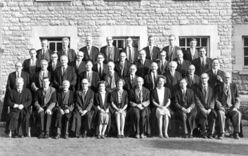The Founding Fellows of St Cross College, 1965 (Ruth, centre)