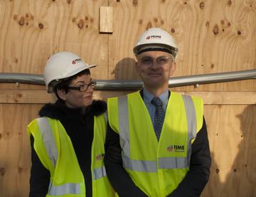 Professor Sally Mapstone with Professor William James