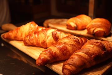 Croissants in the Café