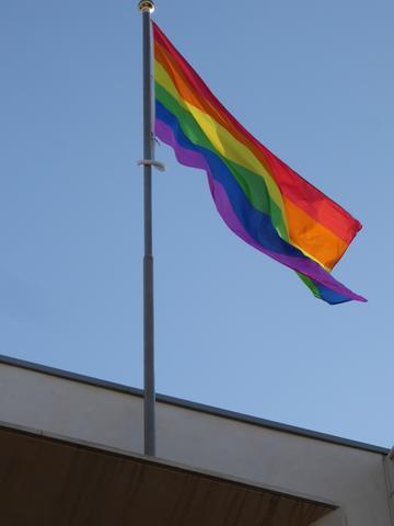 rainbow flag large