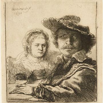 Rembrandt's Self-portrait with Saskia, 1636